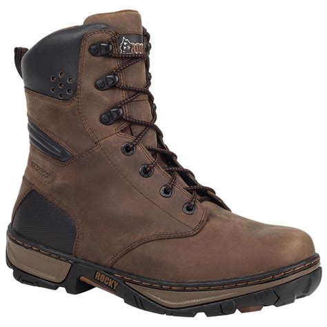 work boots rocky 174 forge 8 quot steel toe waterproof work boots darkwood