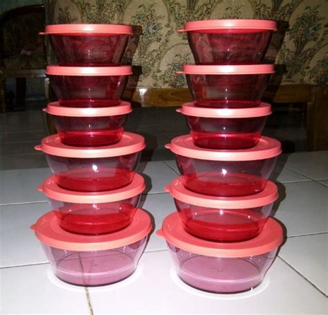Harga Tupperware Clear Bowl Set dychana shop tupperware malaysia di surabaya
