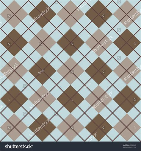 pattern blue brown plaid pattern blue and brown stock photo 46944388
