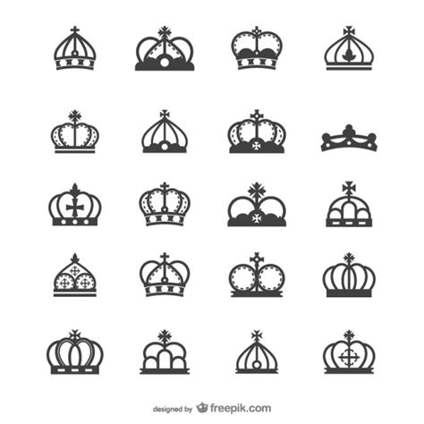 queen hat tattoo la corona europea vector silueta descargar vectores gratis