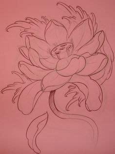 lotus tattoo flash japanese lotus n waves under peony fuschia and blue