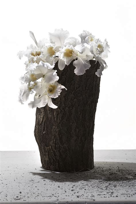 Log Flower Vase by The Artful Masculinity Of Mike Hines Florals Source Adage