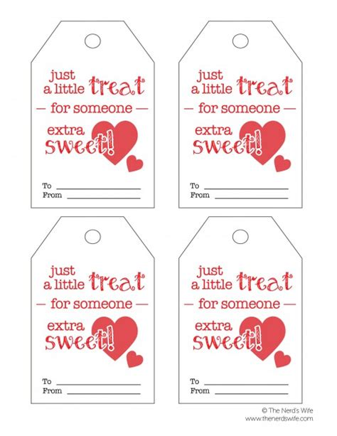 printable gift tags for valentines sweet treat valentine printable