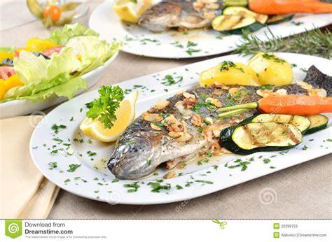 trout amandine trout amandine stock photos image 22299753