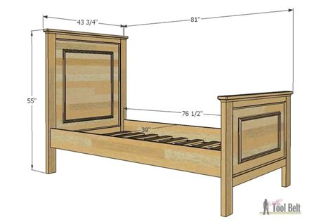 twin bed designs twin bed with faux raised panel her tool belt