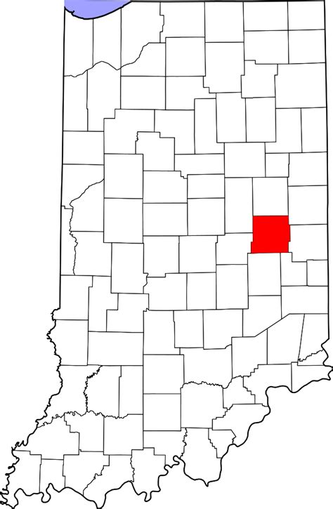 Henry County Search File Map Of Indiana Highlighting Henry County Svg Facts For Kidzsearch