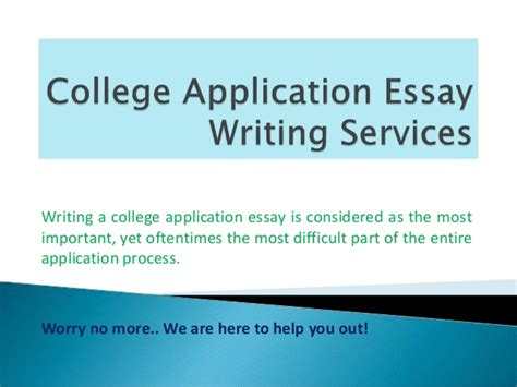 College Application Essay Importance College Application Essay