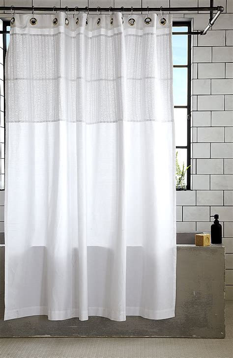 sophisticated shower curtains white cotton shower curtain decoist