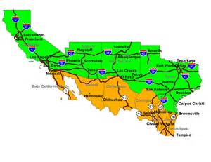 Mexico Usa Border Map by United States Mexico Border Map Submited Images