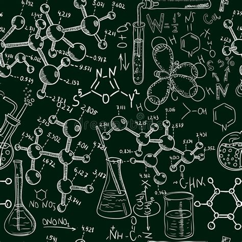 Pattern Lab Less | science old chemistry laboratory seamless pattern vintage