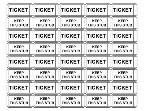 Printable Tickets Pdf | printable raffle tickets with numbers make your own