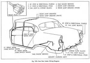 wiring diagram for 1955 chevrolet passenger car four door sedan circuit wiring diagrams
