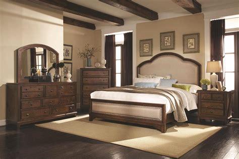 upholstered headboard laughton rustic bedroom set