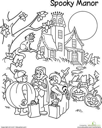 halloween coloring page 5th grade 22 best worksheets images on pinterest grade 2 second