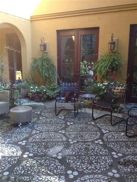 Power washed stencil patio at KWolfWebb's house. We used