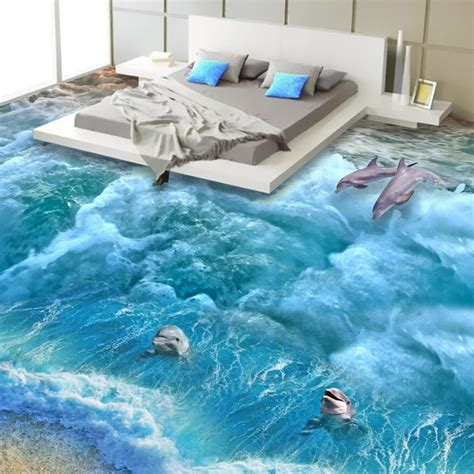 3d flooring images aliexpress com buy floor wallpaper 3d fashionable interior design beach design 3d floor
