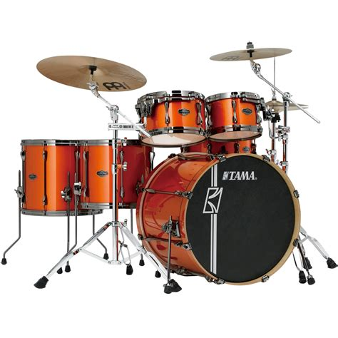 Tama Superstar Hyperdrive Maple Ml62hzbns 6 Fbf tama superstar hyperdrive maple drum kit bright orange metallic tama drums drum and guitar