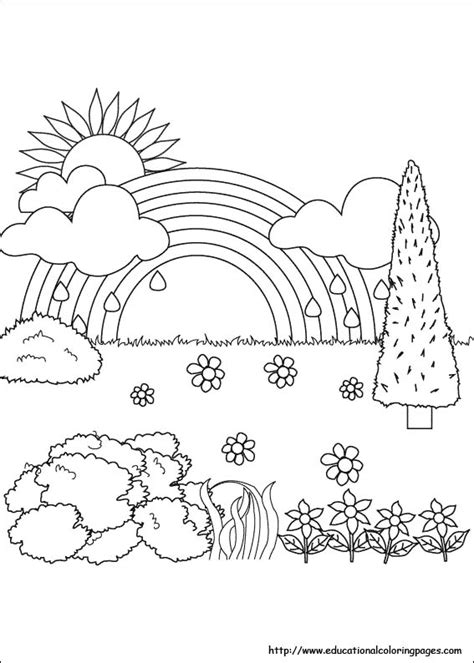 Coloring Page Nature by Nature Coloring Pages Educational Coloring