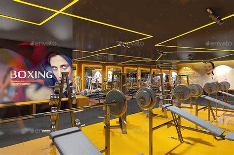 Home Gym Interior Design Fitness Amp Gym Interior Design Branding Mockups By Wutip