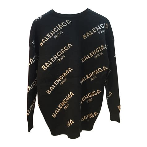 Sweater Logo balenciaga new logo crewneck sweater evachic