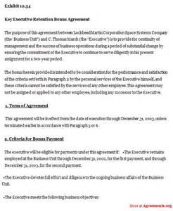 retention agreement template doc 600600 sample executive agreement executive retention agreement template 8 understanding