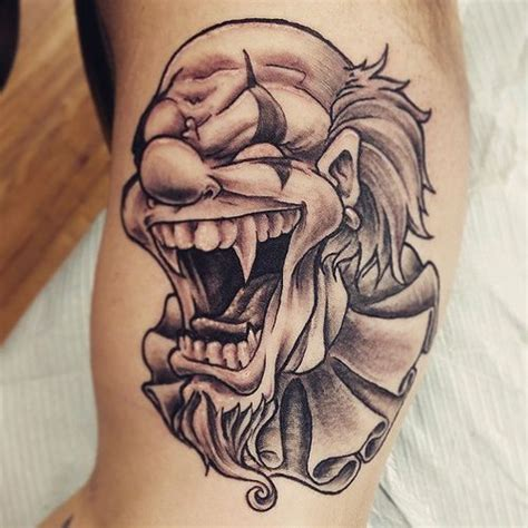 clown face tattoo designs 33 best wiked and clowns tattoos images on