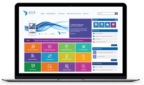 Dock Intranet Portal Reviews And Pricing 2018 Free Sharepoint Hr Template