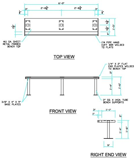 bench width benches detail drawing decoration news