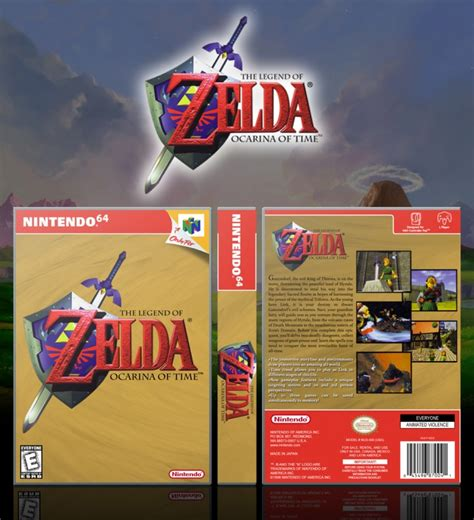 the legend of ocarina of time nintendo wiki fandom powered by wikia the legend of ocarina of time nintendo 64 box cover by solid romi