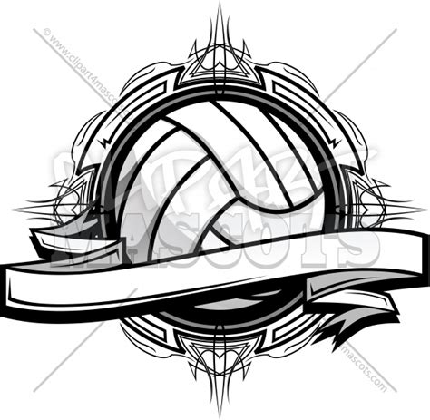 volleyball design graphic vector logo