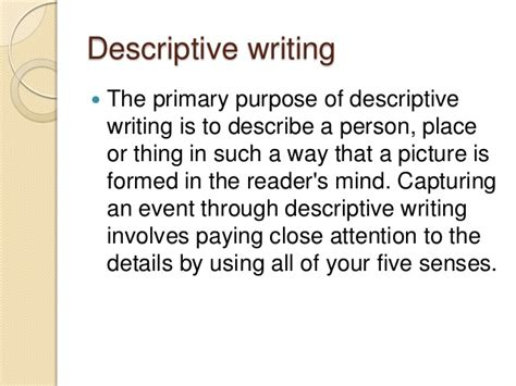 Descriptive Essay About A Person by Writing Modes Narrative Descriptive And Argumentative