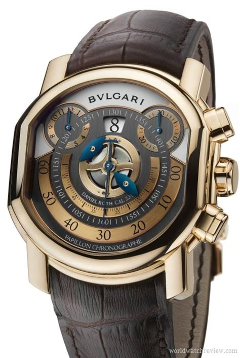 Bvlgari Bv028 Black Rosegold Blue bulgari papillon chronograph in gold world review