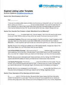 Expired Contract Letter Sle Expired Listing Letter Free Exles That Work