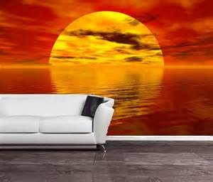 cheap wall murals uk self adhesive sunset beach decorating wall mural art 150