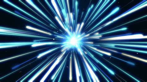 how fast is the speed of light fast light speed motion trails endless loop in space