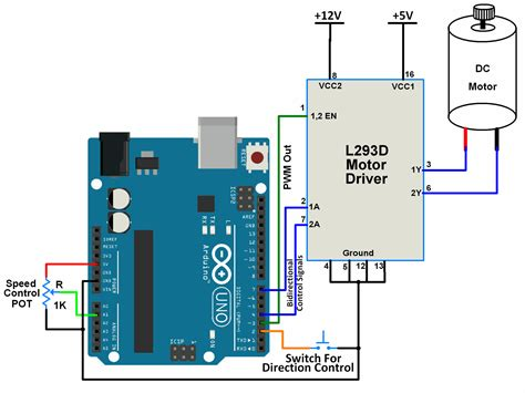 dc motor connection with arduino wiring diagrams wiring
