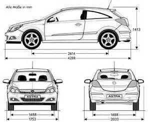 Opel Astra H Dimensions Tutorials3d Blueprints Opel Astra Gtc