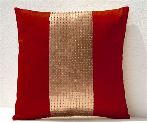what color pillows for red couch throw pillows red gold color block sequin bead pillow couch