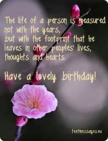 image with flower and inspirational birthday greeting birthday messages