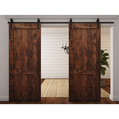 Harvest Home Decor by Wood 1 Panel Interior Barn Door Wayfair