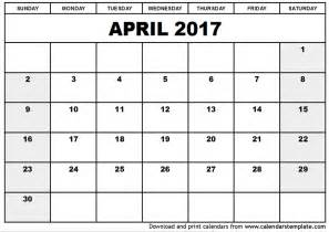 Calendar With Pictures Template by April 2017 Calendar Template