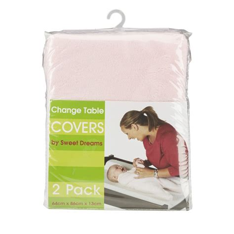 Change Table Covers Change Table Mattress Cover Pink 2 Pack Sweet Dreams