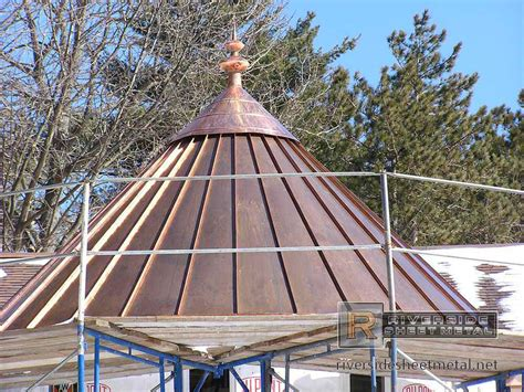 Copper Cupola Roof Copper Roof With Finial During Installation Cupolas And