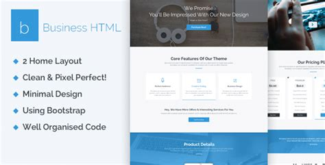 html5 business templates business creative one page html5 template