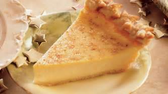 holiday eggnog custard pie recipe from pillsbury com