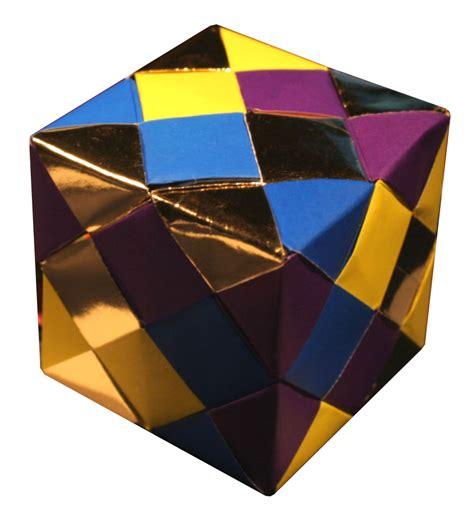 Origami Cube Sonobe - lets make origami oktober 2010