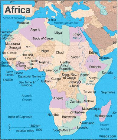 africa map rwanda facts about rwanda