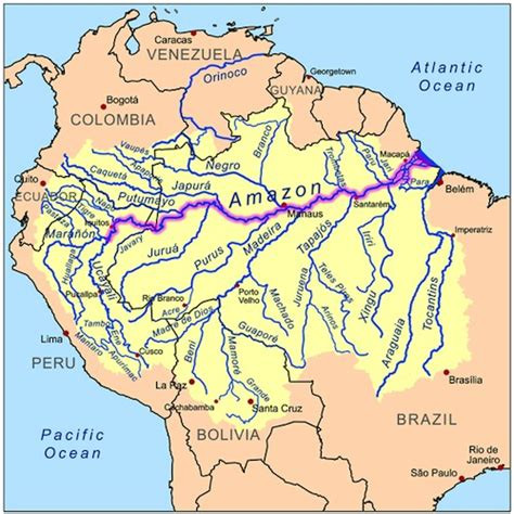amazon river map resources to learn about rivers with a global twist