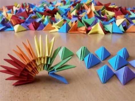 3d origami vase tutorial 3 3d origami rainbow vase youtube