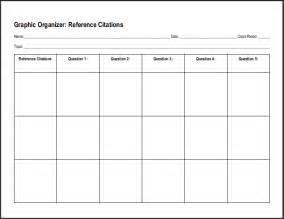 reference citations chart worksheet for research essays